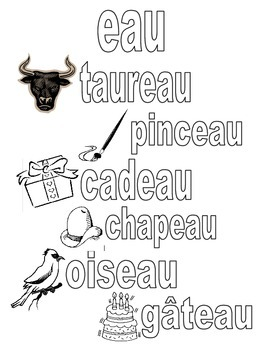 French phonetics poster