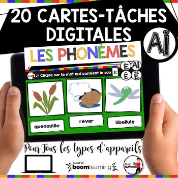 French phonics Boom Cards ou Cartes à Tâches Digitales (Phonème AI-È-Ê)