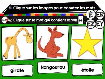 French phonics Boom Cards ou Cartes à Tâches Digitales (Phonème ER-EZ-É)