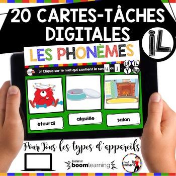 French phonics Boom Cards ou Cartes à Tâches Digitales (Phonème ILLE-IL)