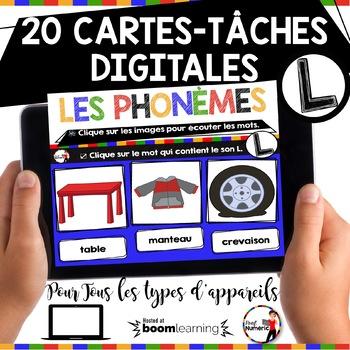 French phonics Boom Cards ou Cartes à Tâches Digitales (Phonème L)