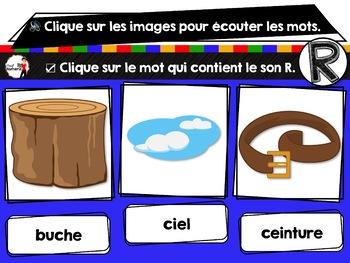 French phonics Boom Cards ou Cartes à Tâches Digitales (Phonème R)