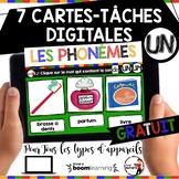 French phonics Boom Cards ou Cartes À Tâches Digitales (Phonème UN-UM) - FREEBIE