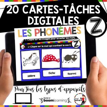 French phonics Boom Cards ou Cartes à Tâches Digitales (Phonème Z)