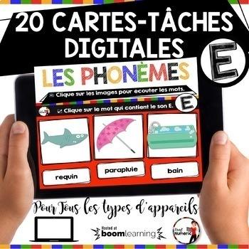 French phonics Boom Cards ou Cartes À Tâches Digitales (ENSEMBLE COMPLET)