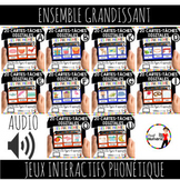 Distance Learning FRENCH PHONICS BOOM CARDS - Cartes-Tache