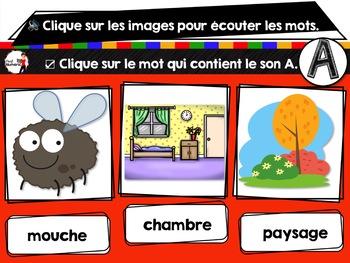 French phonics avec Boom Learning ou Cartes À Tâches Digitales (Phonème A)