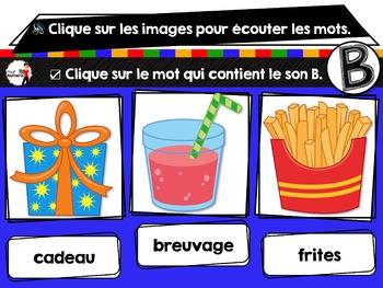 French phonics avec Boom Learning ou Cartes À Tâches Digitales (Phonème B)