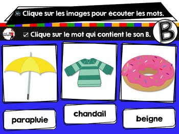 French phonics avec Boom Learning ou Cartes À Tâches Digitales (Phonème B)