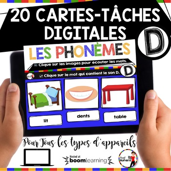 French phonics avec Boom Learning ou Cartes À Tâches Digitales (Phonème D)