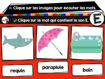 French phonics avec Boom Learning ou Cartes À Tâches Digitales (Phonème E)