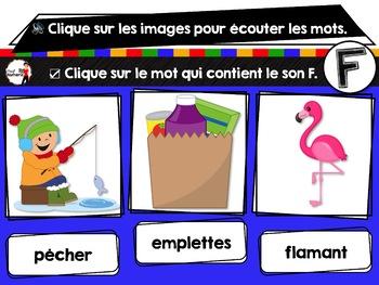 French phonics avec Boom Learning ou Cartes À Tâches Digitales (Phonème F)