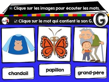 French phonics avec Boom Learning ou Cartes À Tâches Digitales (Phonème G)