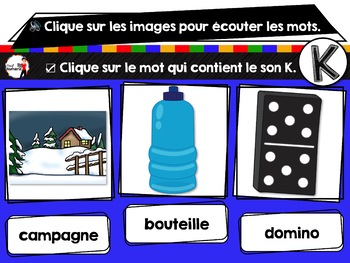 French phonics avec Boom Learning ou Cartes À Tâches Digitales (Phonème K)