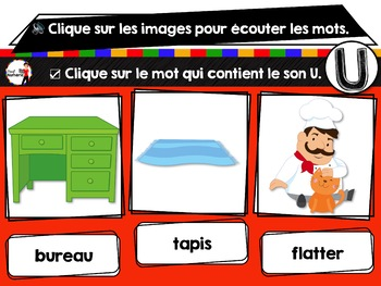 French phonics avec Boom Learning ou Cartes À Tâches Digitales (Phonème U)
