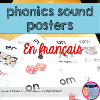 French phonics sound posters