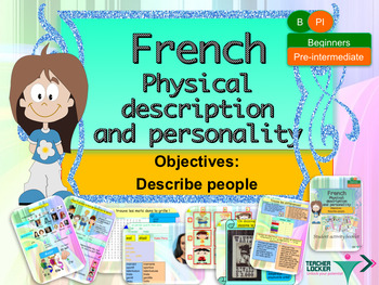 French physical and character description full lesson for