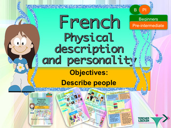 French physical and character description for beginners booklet