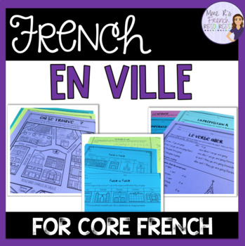 French places speaking and writing EN VILLE