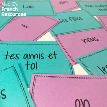 French places vocabulary board game EN VILLE