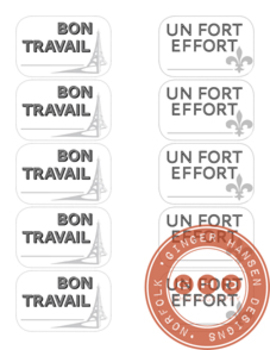French positive feedback stickers