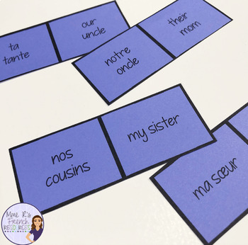 French possessive adjectives dominoes LES ADJECTIFS POSSESSIFS