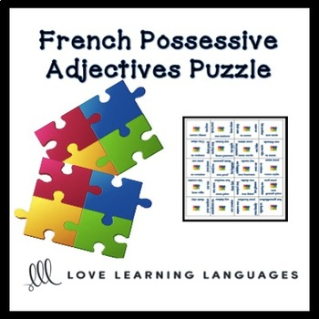 French possessive adjectives puzzle activity