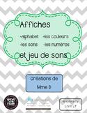 French posters and game of sounds - Affiches en français et jeu de sons