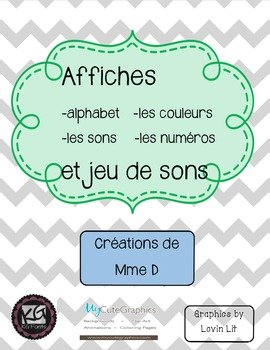 French posters and game of sounds - Affiches en français e