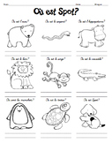 French preposition practice with OU EST SPOT story