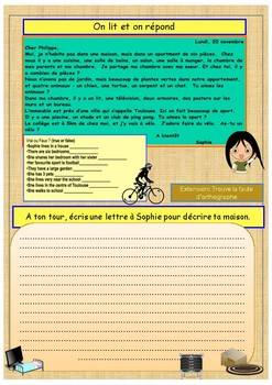 French prepositions and furniture booklet for beginners