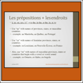 French prepositions + places presentation