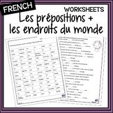 French prepositions + places/les prépositions + les endroits- activities