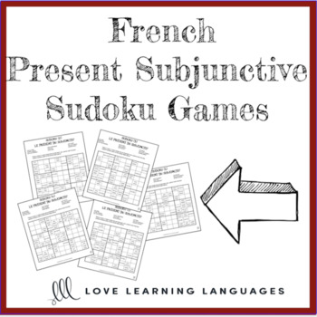French present subjunctive sudoku games