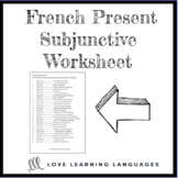 French present subjunctive worksheet - Il faut que - Subjo