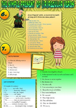 French present tense booklet for beginners