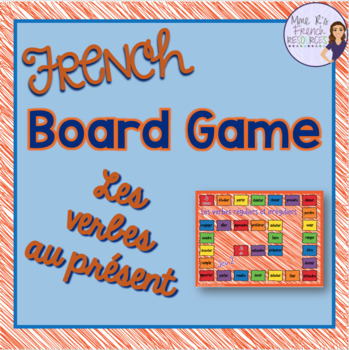French present tense irregular verbs board game
