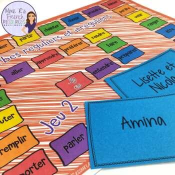 French present tense irregular verbs board game