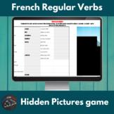 French present tense regular verbs - Hidden pictures game