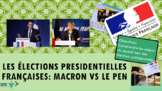 French presidential elections Macron and Le Pen intermedia