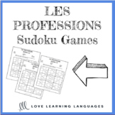 French professions sudoku games - Les professions