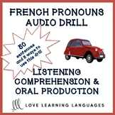 French pronouns audio drill - 50 sentences - Distance Learning