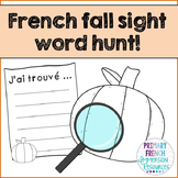 French pumpkin sight words hunt - Jeu - Mots à haute fréquence