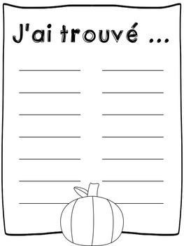 French pumpkin sight words hunt - Jeu - Mots à haute fréquence