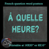 French question words posters - printable