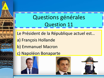 French quiz back to school PPT for beginners