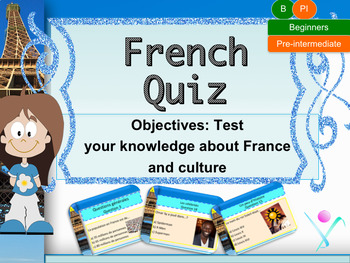 French back to school interactive quiz