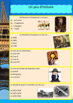 French quiz full lesson with PPT and booklet for beginners