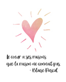 French quote poster - Blaise Pascal