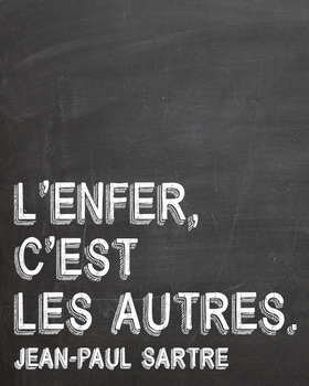 French quote poster - Jean-Paul Sartre